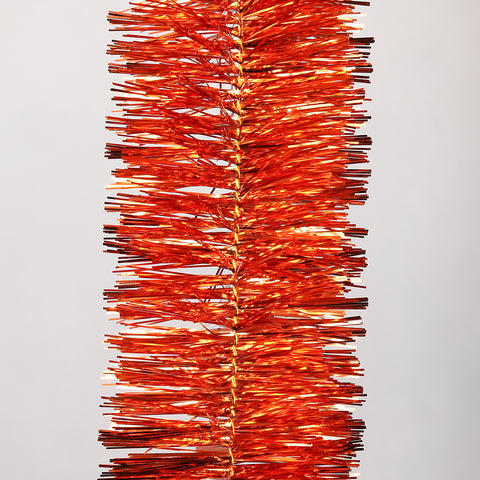 orange deluxe tinsel 100mm x 5.5m