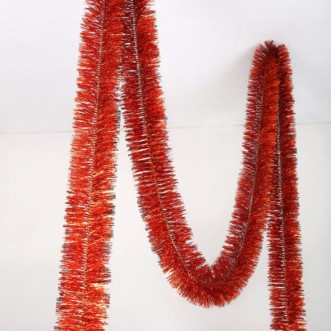 orange deluxe tinsel 150mm x 5.5m