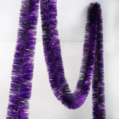 purple deluxe tinsel 100mm x 5.5m