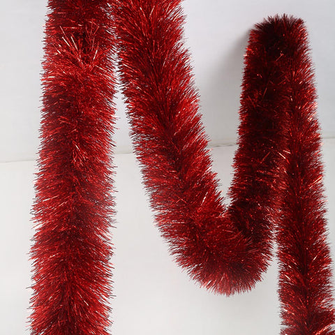 red deluxe tinsel 100mm x 5.5m