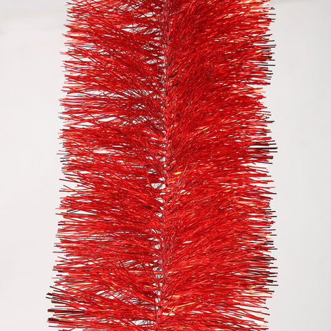red 4 ply tinsel 100mm x 10m