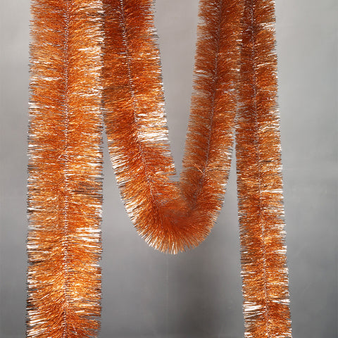 Rose Gold 4 Ply Tinsel Garland - 150mm x 5.5m