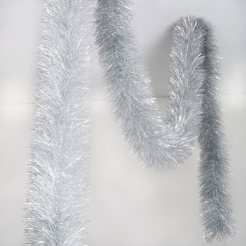 silver 4 ply tinsel 150mm x 10m