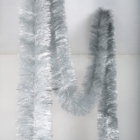 silver 6 ply tinsel 100mm x 10m