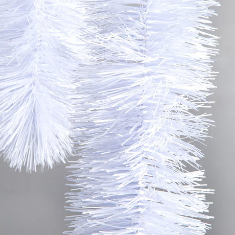 white 4 ply tinsel 150mm x 5.5m