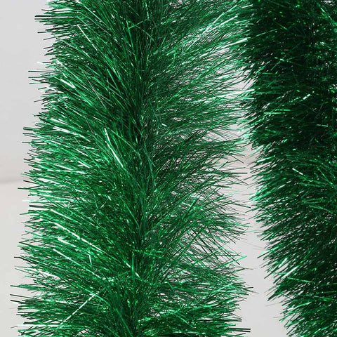 green 4 ply tinsel 150mm x 10m