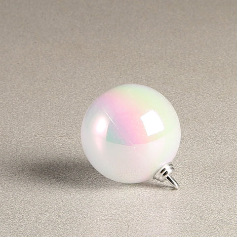 White Iridescent Glossy Bauble 60mm