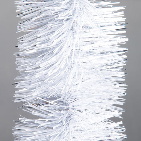 whitesilver deluxe tinsel 100mm x 5.5m