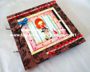 Special handmade scrapbook with fold and flaps