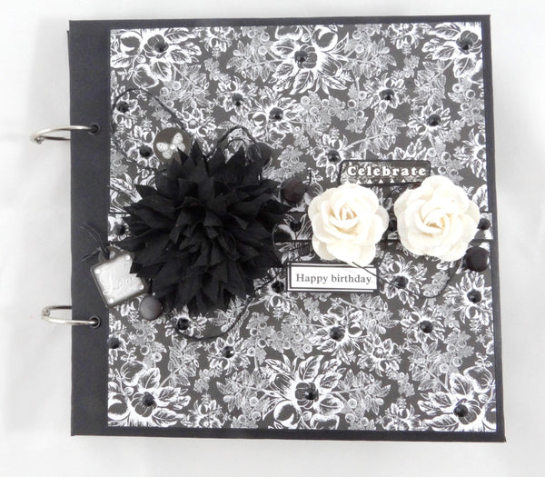 Black and white theme photo album