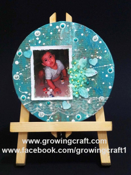 Canvas photo frame