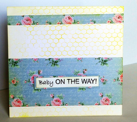 Baby on the way card