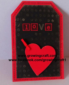 Love Gift tag with clip - Pack of 6