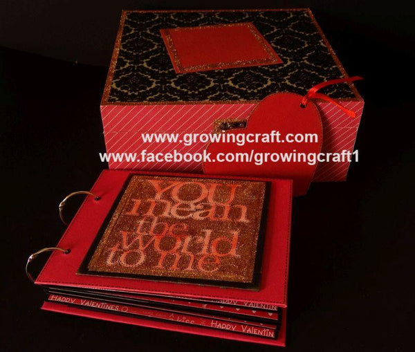 LOVE SCRAPBOOK WITH WOODEN BOX