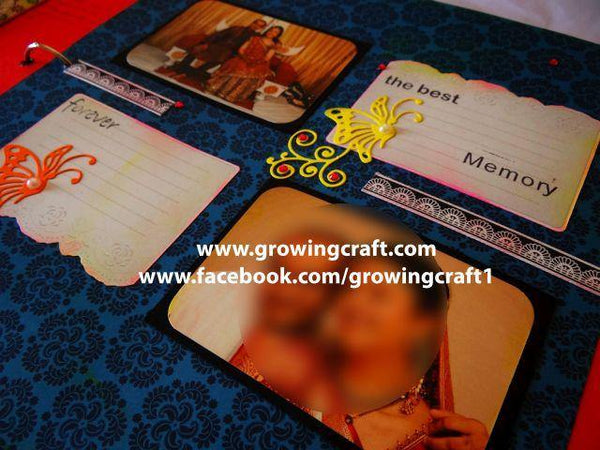 Big scrapbook with customized page