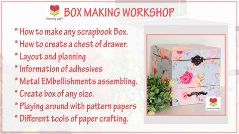 Scrapbook Box with Drawer making