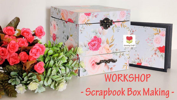 Scrapbook Box with Drawer making (Without Kit)