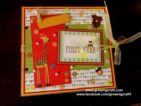 Baby's first year scrap book album