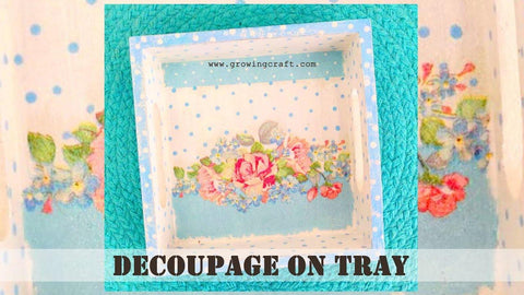 Decoupage on tray