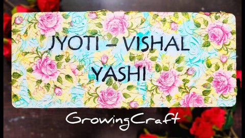 FLORAL TEXTURED NAME PLATE