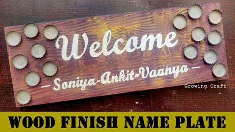WOOD FINISH NAME PLATE