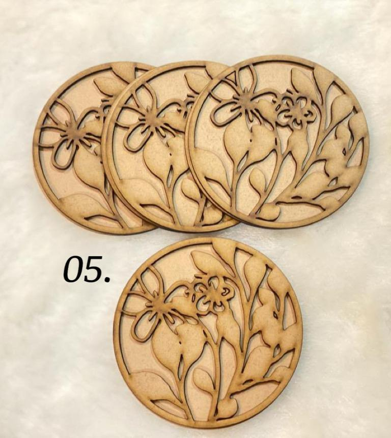 Layered coasters (design no- 5)