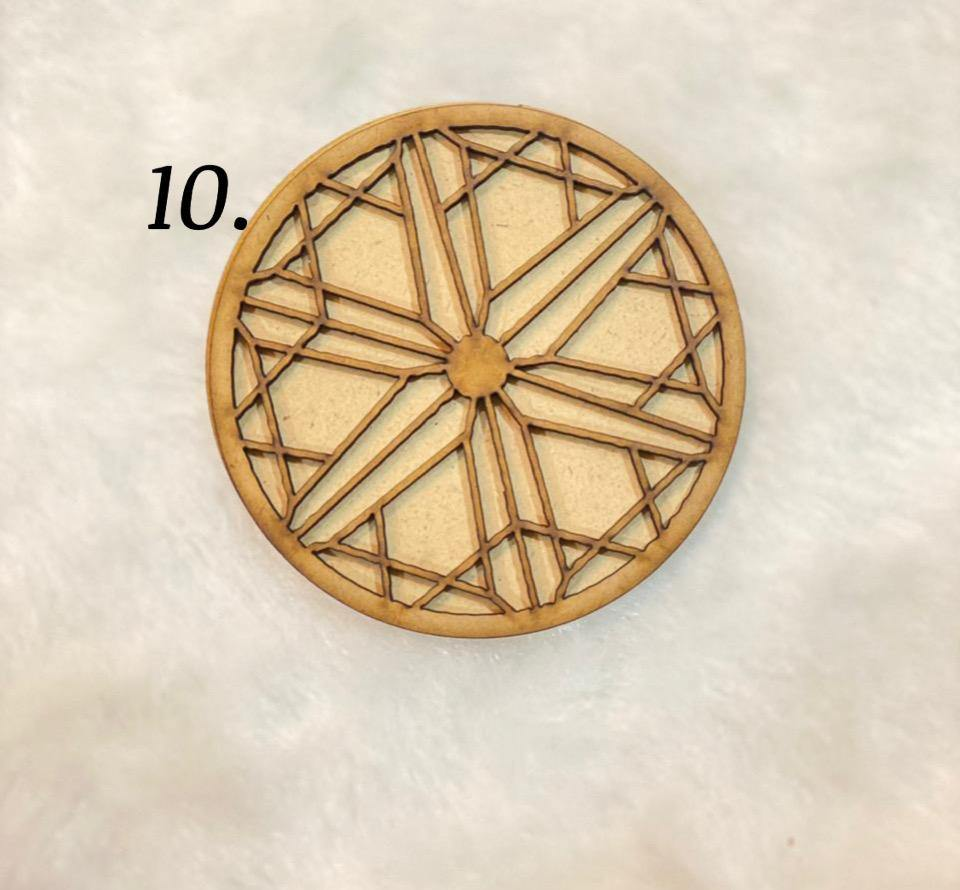 Layered coasters (design no- 10)