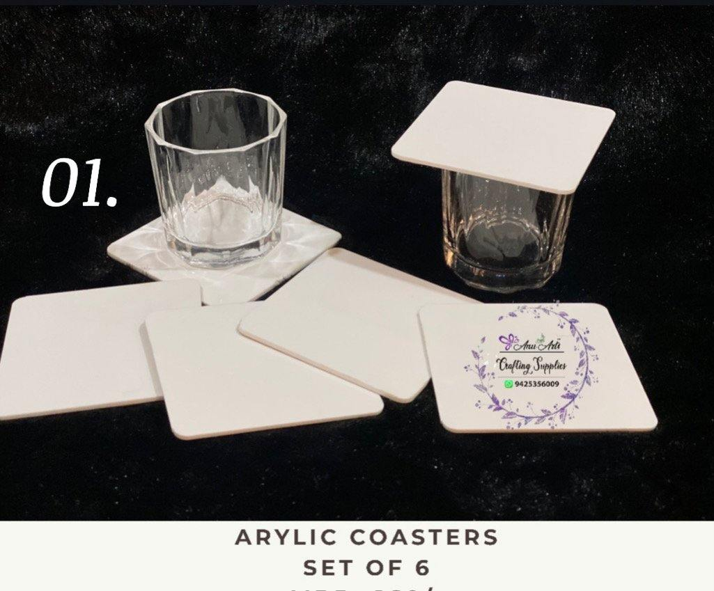 Acrylic coasters (design no - 1)