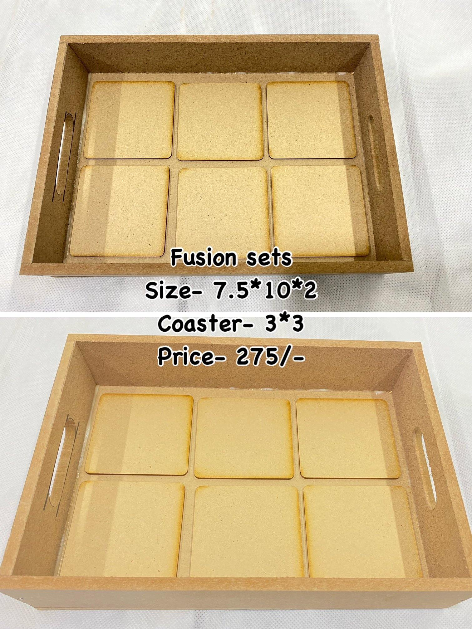 Fusion trays with detachable coasters (Design no - 1)