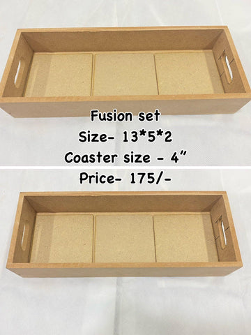 Fusion trays with detachable coasters(design no 4)