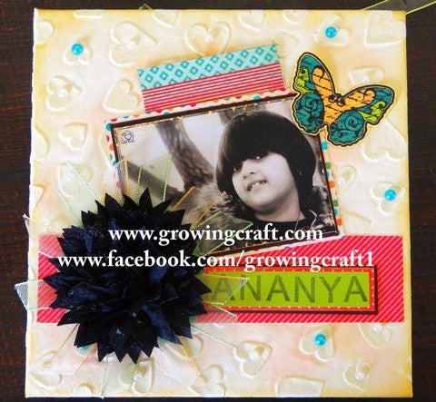 HANDMADE SCRAPBOOK WITH JOURNAL SPACE