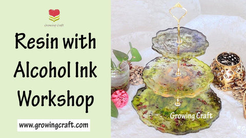 Resin with Alcohol Ink Workshop - Cake Stand Making