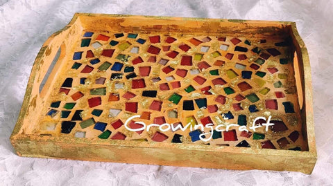 Mosaic and Resin Tray
