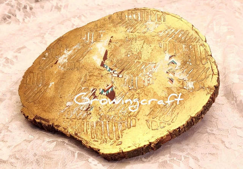 Center Table Golden Decor Platter