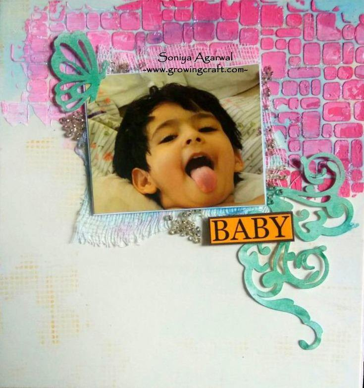 Canvas photo frame with frame