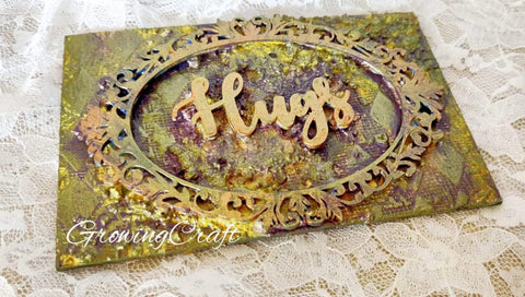 Hugs Magnet (Mixed Media Art)