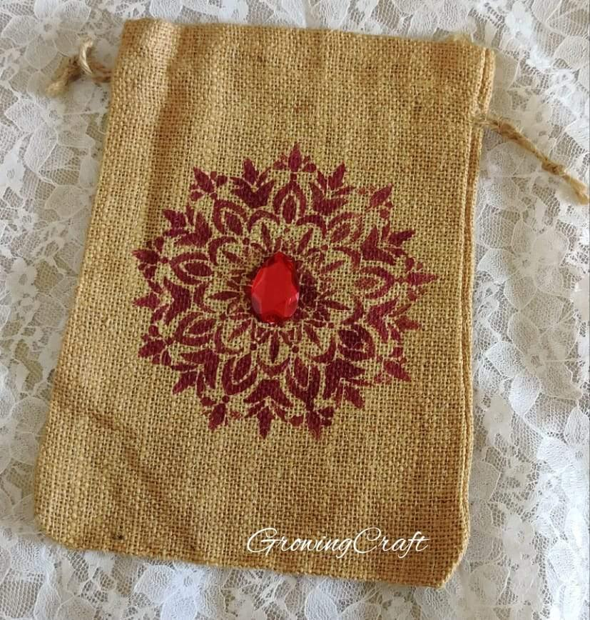 Decorative jute potli