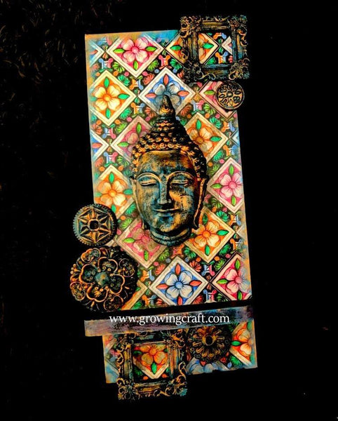 Buddha Decorative Mixed Media wall frame & T-light holder
