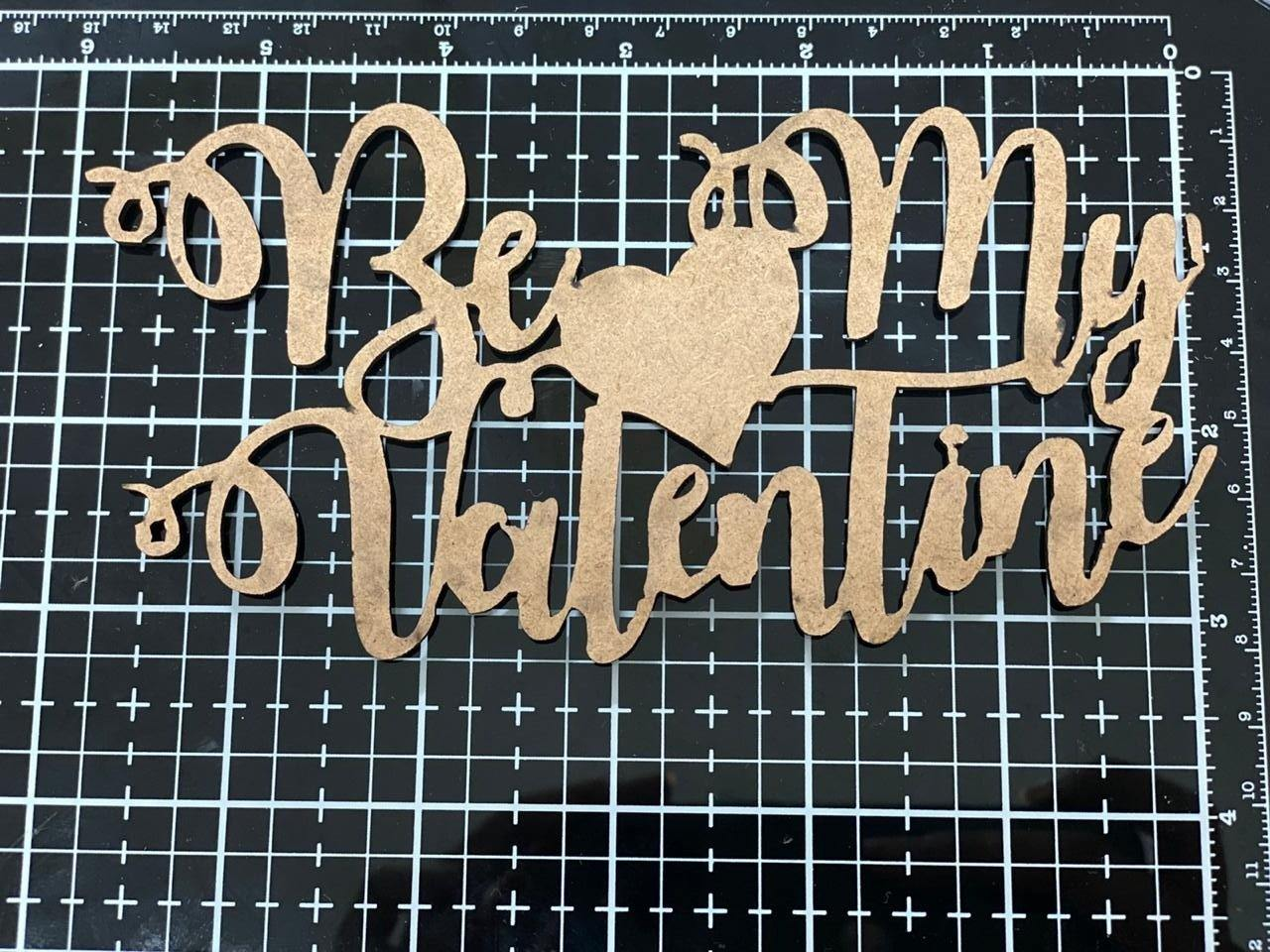MDF toppers ( valentine)10 PIECE IN A PACK