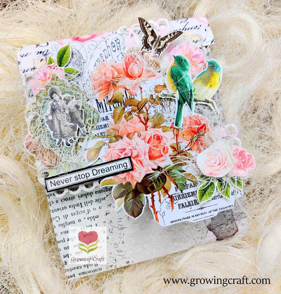 Envelope Scrapbook with photo pullout tags