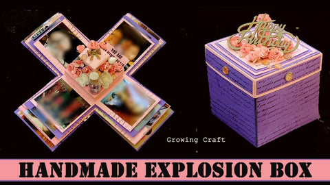 3 Layer Photo album Explosion Box with flaps