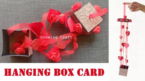Hanging heart Box - Valentine's Box card