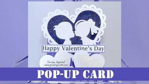Couple Valentine's Pop up card