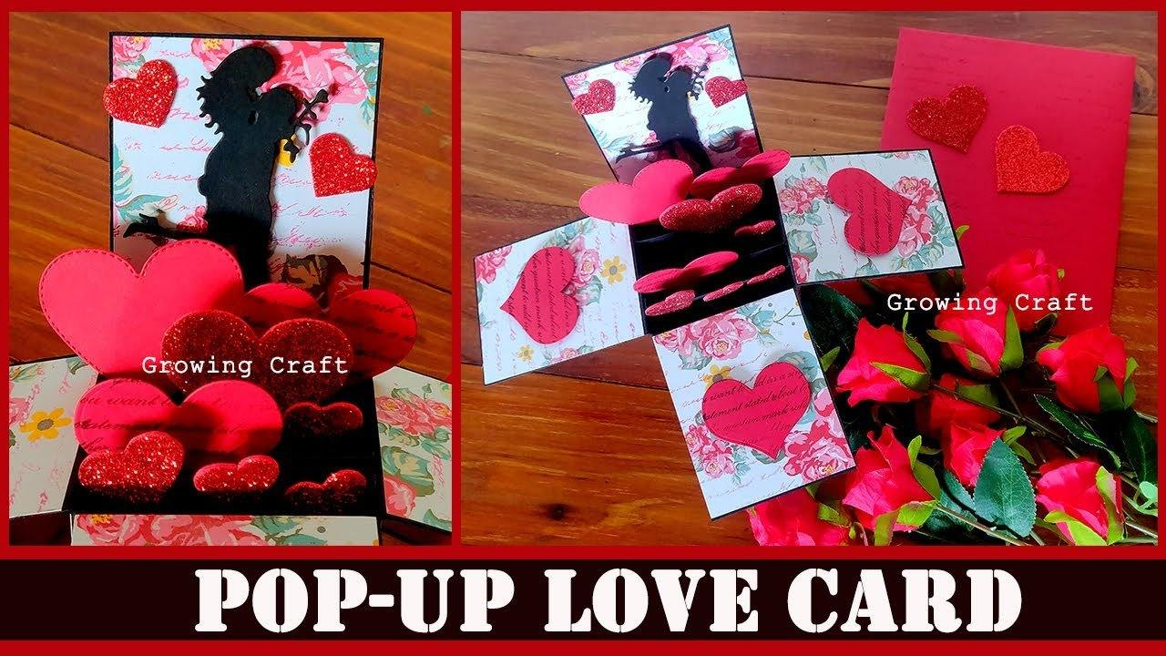 Love Pop up card with matching envelope