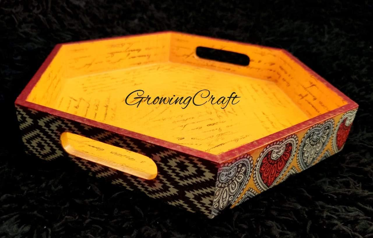 Indian motif theme serving tray
