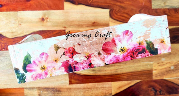 Metallic Floral theme tray with handle