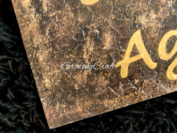 Name Plate with Gold Gliding and Texture Work