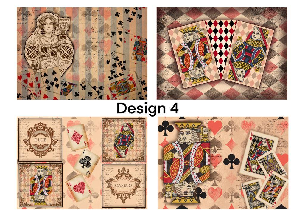 Decoupage papers (design no -4) pack of 4