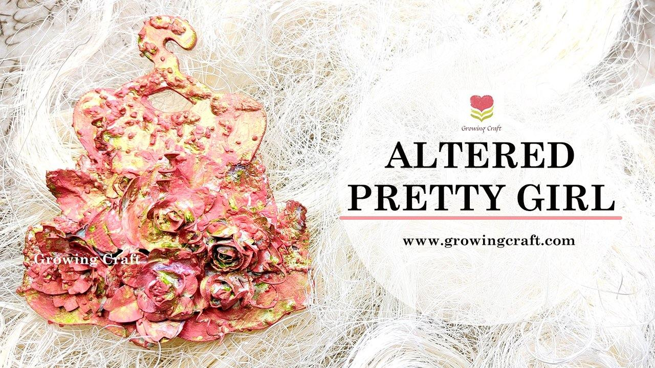 Altered pretty girl dress magnet