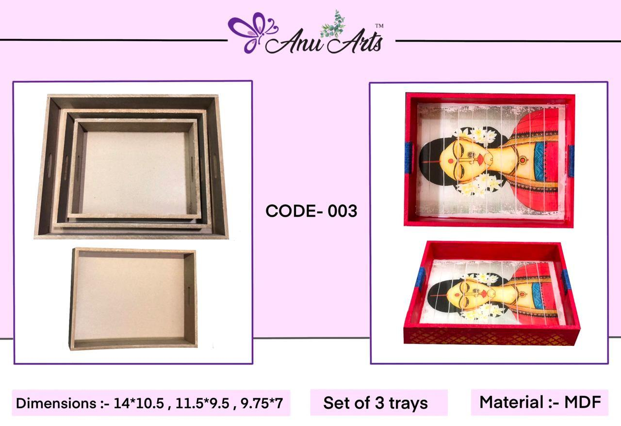 MDF Trays (set of - 3)-003